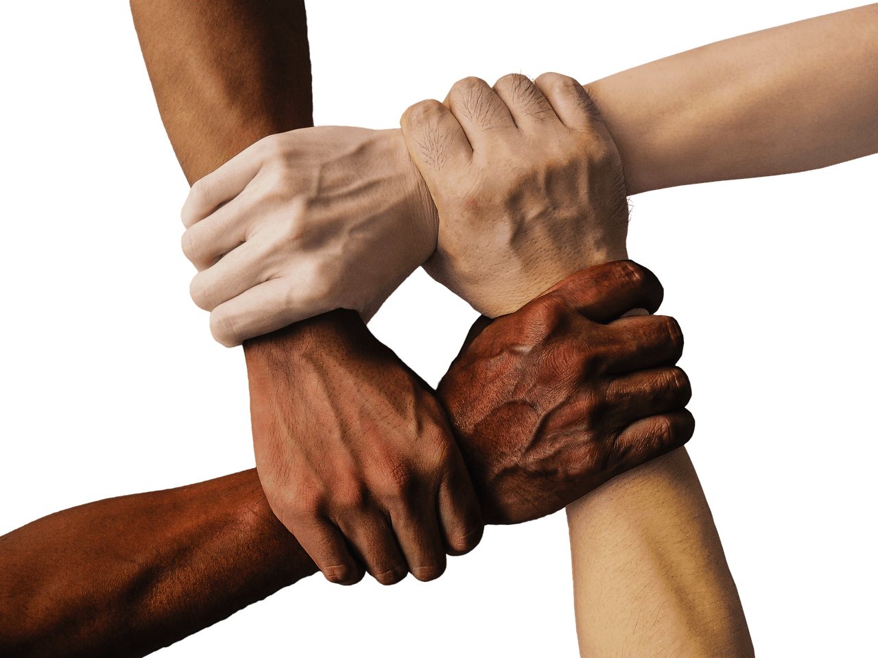 hand, united, together
